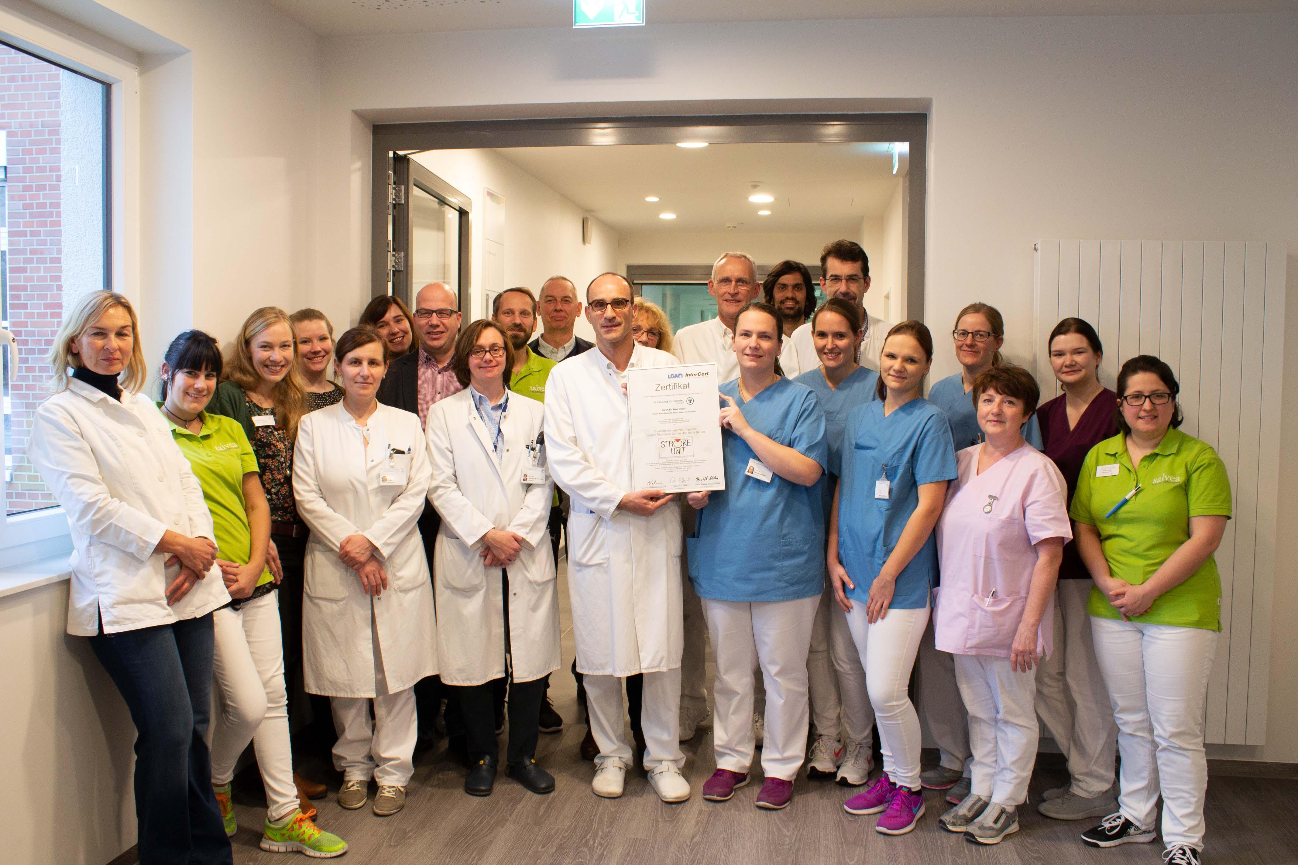 Regionales Schlaganfallzentrum In Ahlen Erstmalig Zertifiziert